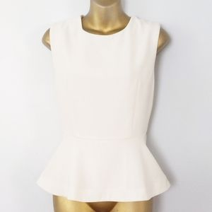 Forever 21 cream peplum top size large